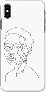 Okteq thin slim fit case forApple Iphone XS Max - female face06 by Okteq