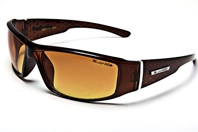 91ff71b13b Image Unavailable. Image not available for. Color  XL12 Style 1 X-Loop  Eyewear BROWN HD High Definition Men s Outdoor Sport Sunglasses