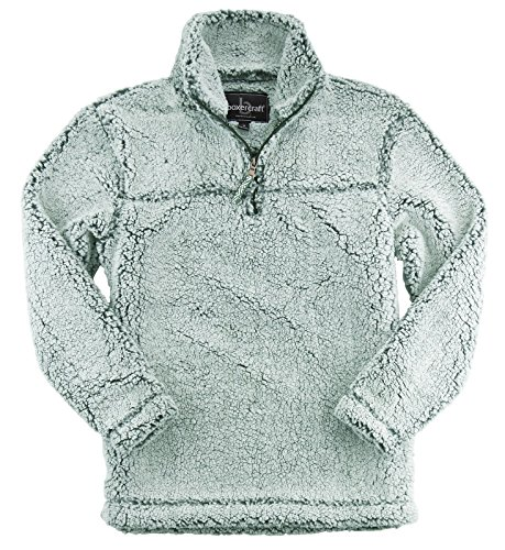 Zip Pullover Jacket Half (Premium Plush Women's Epic Sherpa Quarter Zip (Frosty Forest-X-Large))