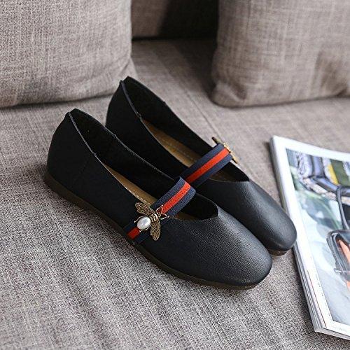 de para Shoes Yardas Negro Zapatos Cuatro Estaciones Zapatos Suaves al 36 Zapatos con 40 Mujer y luz Planos para Final Primeros Minimalista Mujer Casual Elegante XXM 38 los Mujer vdq6CCw