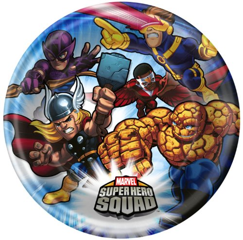 Marvel Super Hero Squad Dessert Plates (8 count)
