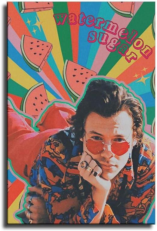 Harry Styles Watermelon Sugar Illustration Style Poster