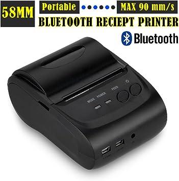 Excelvan® Bluetooth inalámbrica de la impresora térmica de recibos ...
