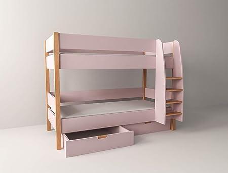 Etagenbett Quba 3 : Xxl colorland etagenbett für mädchen mit bettkasten stockbett