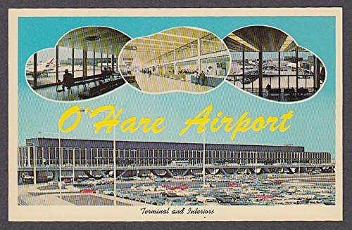 O'Hare Airport Terminal & Interiors Chicago IL postcard - Il Chicago Airport