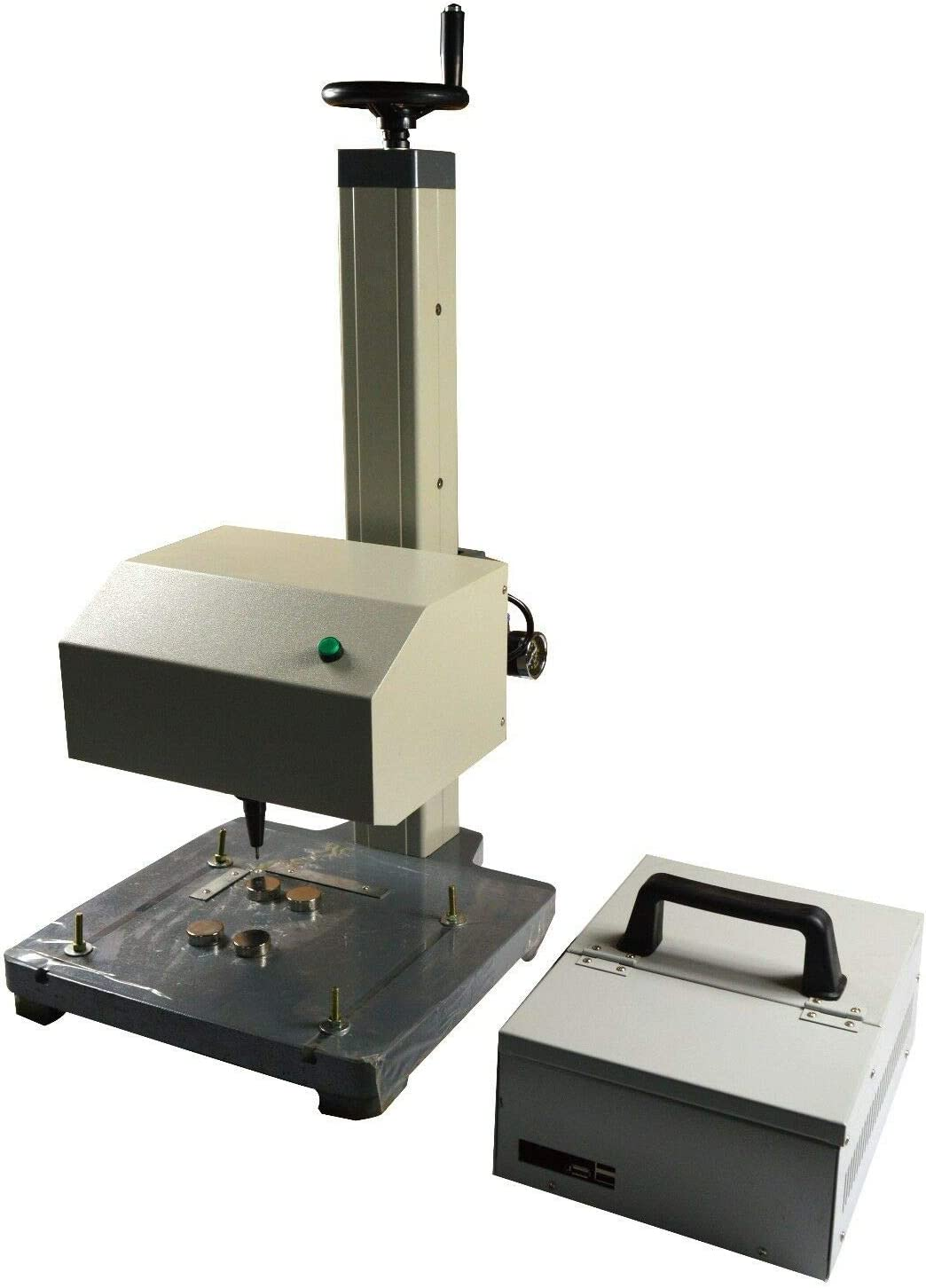 INTBUYING 7 Touch Screen Pneumatic Dot Peen Marking Machine Metal Print