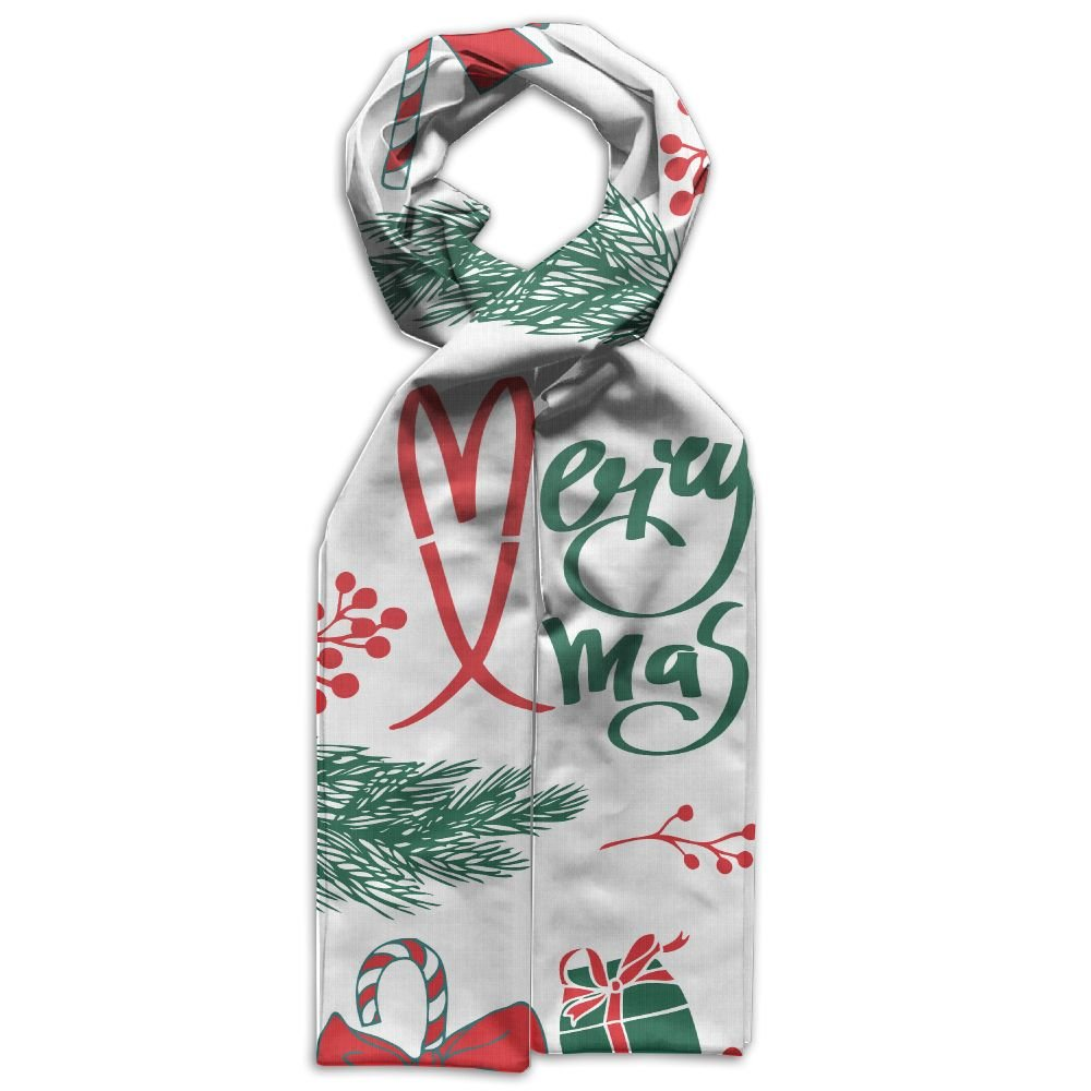 Merry Christmas Bow Printing Scarf Warm Soft Fashion Scarf Shawl Spring Autumn Winter Kids Boys Girls