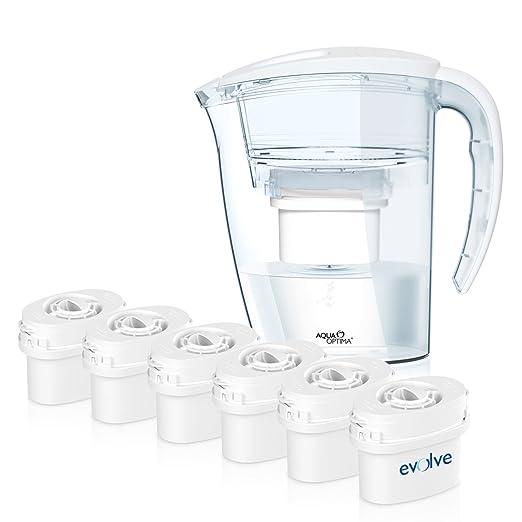 155 opinioni per Aqua Optima Caraffa filtrante da frigorifero con 6 filtri Double Life da 60