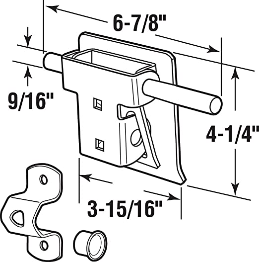 Amazon Com Prime Line Products Gd 52241 Garage And Shed Latch