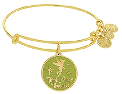84d7ccc5d Amazon.com: Disney Parks Alex and Ani Tinker Bell Fairy Green Enamel Think  Happy Thoughts (Rafaelian Gold): Jewelry
