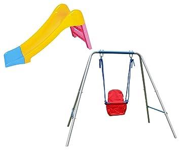 hlc conjunto de resbaladero de los nios para jugar en jardn columpio infantil rojo