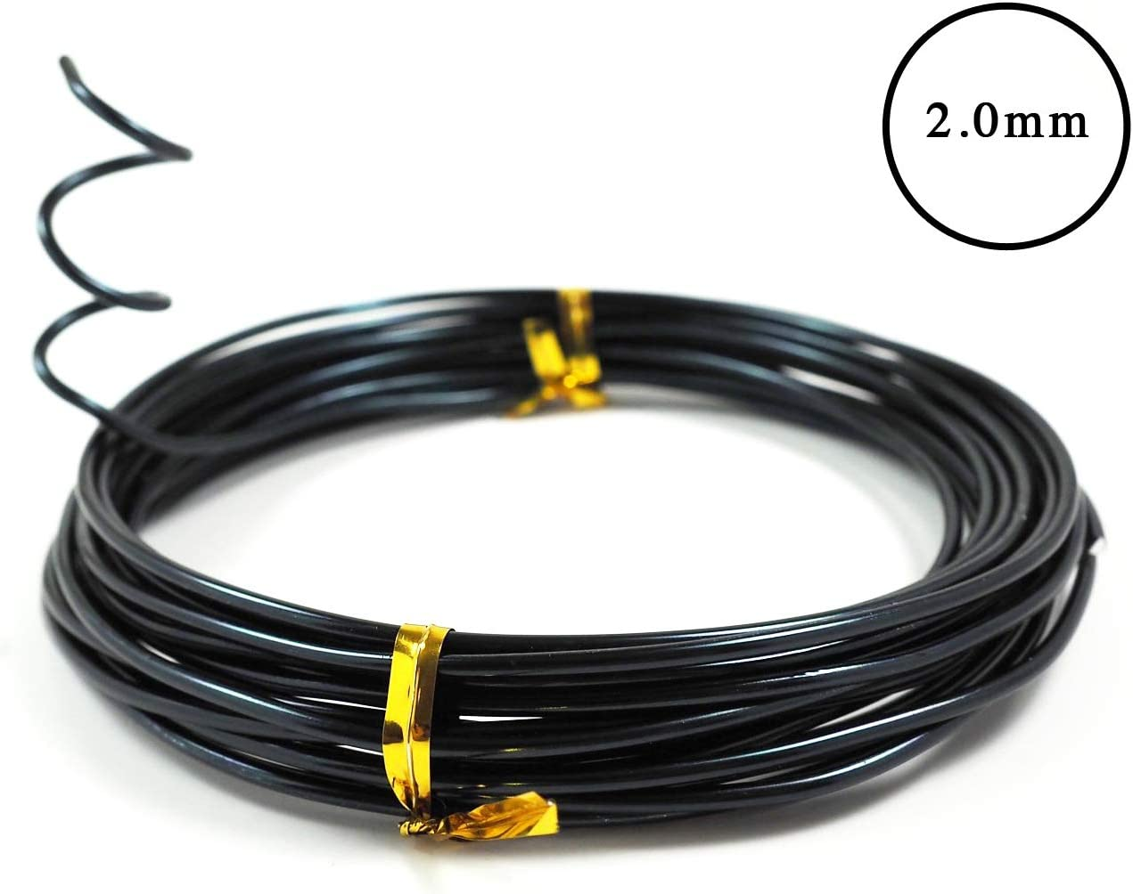 5 Sizes,Black -Choose Your Color 147 Feet Total WOVELOT Anodized Aluminum Bonsai Training Wire 5-Size Starter Set-1.0Mm,1.5Mm,2.0Mm,2.5Mm,3.0Mm