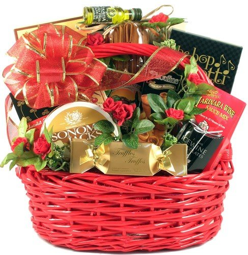 Italian Dinner for Two -Romantic Gourmet Valentine's Day Gift Basket