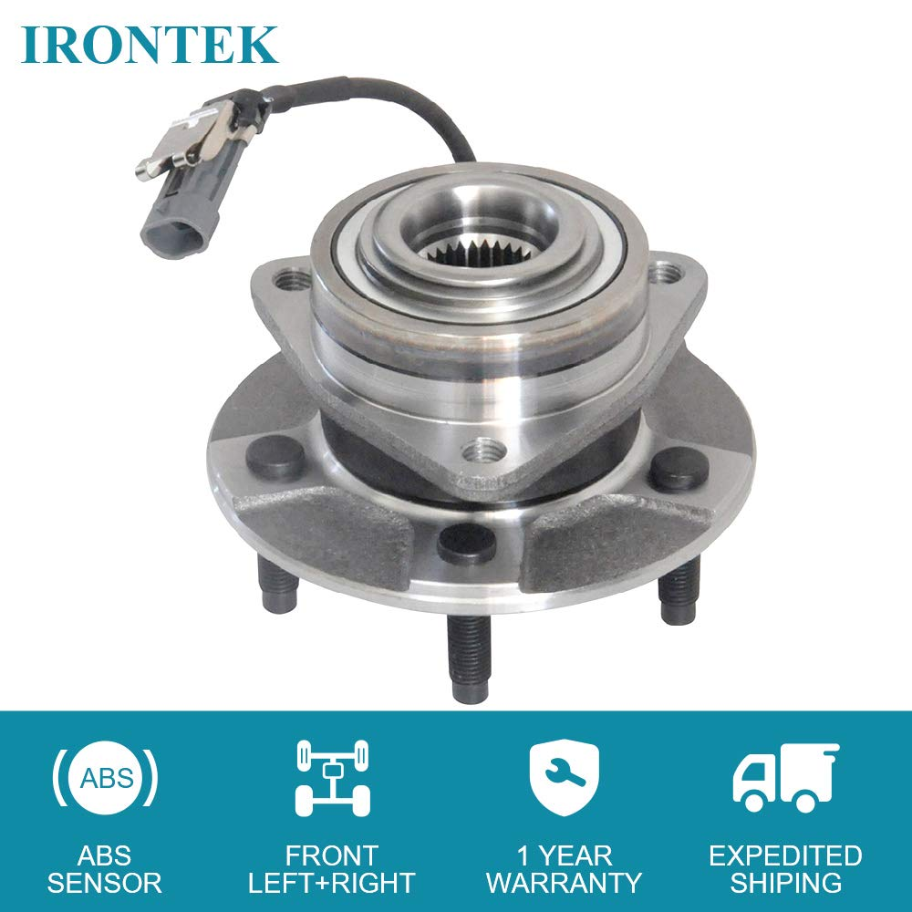 2005-2006 Chevy Equinox 5 Lugs W//ABS 2006 Pontiac Torrent IRONTEK 513189 FRONT Wheel Bearing and Hub Assembly forv2002-2007 Saturn Vue