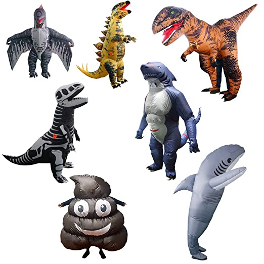 Disfraz De Tiburón Dinosaurio Inflable Para Adultos Blow Up ...