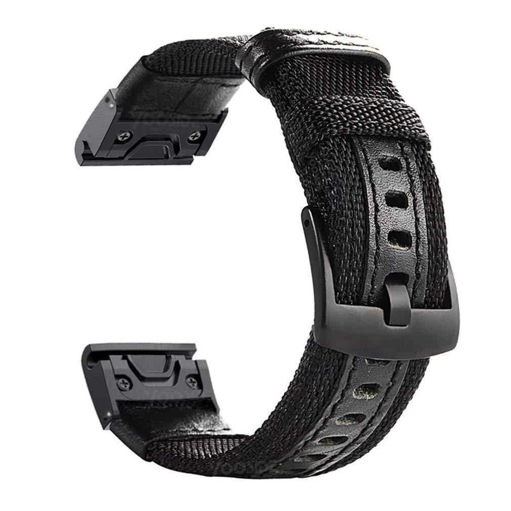 YOOSIDE Fenix 5/Fenix 6 Watch Band, 22mm Quick Easy Fit Nylon Durable Wristband Strap for Garmin Fenix 5/5 Plus,Fenix 6…