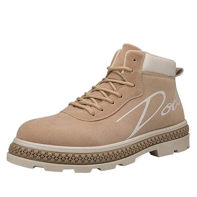 ❤️ Botas de Cremallera para Hombres Trabajan, Hombres Botas Tobillo Botas Zapatos de Trabajo Casual High Cut Adultos Caminar Calzado Zapatillas de