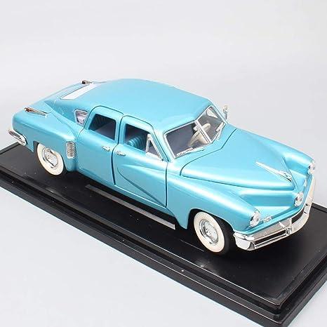 QLRL Retro Grande 1948 Tucker Torpedo 48 Die-Cast Car 1:18 Escala Modelo de Coche