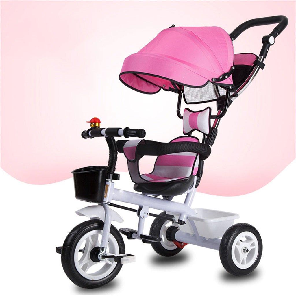 KANGR-子ども用自転車 三輪車の赤ちゃんキャリッジバイク子供のおもちゃの車のインフレータブルホイール/泡ホイールの自転車3つのホイール、ピンク(少年/少女、1-3-5歳) ( 色 : A type ) B07BTRVHXS A type A type