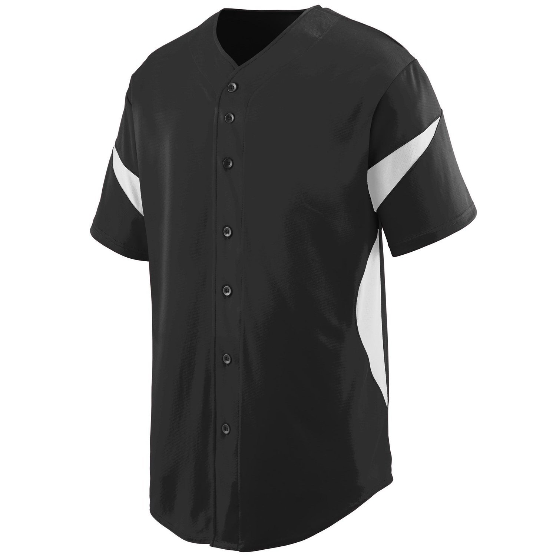 Augusta SportswearメンズホイールHouse Baseball Jersey B00P53SG9E X-Large|ブラック/ホワイト ブラック/ホワイト X-Large