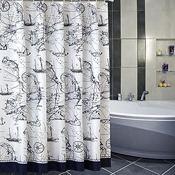 YPL Water Repellent Mildew Resistant Shower Curtain180 Width200 High CM