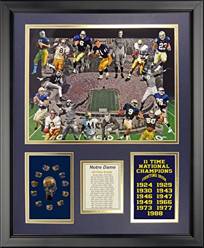 (Legends Never Die NCAA Notre Dame Fighting Irish All-Time Greats Framed Photo Collage, 18