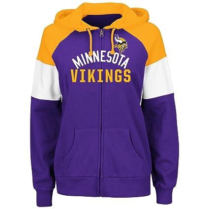 online store 112f6 a5a11 Minnesota Vikings Women's Hot Route Purple Zip Up Hooded Sweatshirt