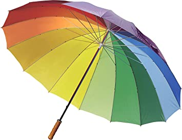 FUN FAN LINE – Paraguas Manual de 16 Paneles Multicolor  en Nylon ...