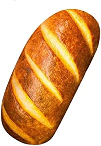 3D Simulation Bread Plush Pillow,Soft Butter Toast Bread Food Pillow Lumbar Back Cushion Stuffed Toy for Home Decor,Not Included The Stuffed(23.6 in, Bread Pillow Case)