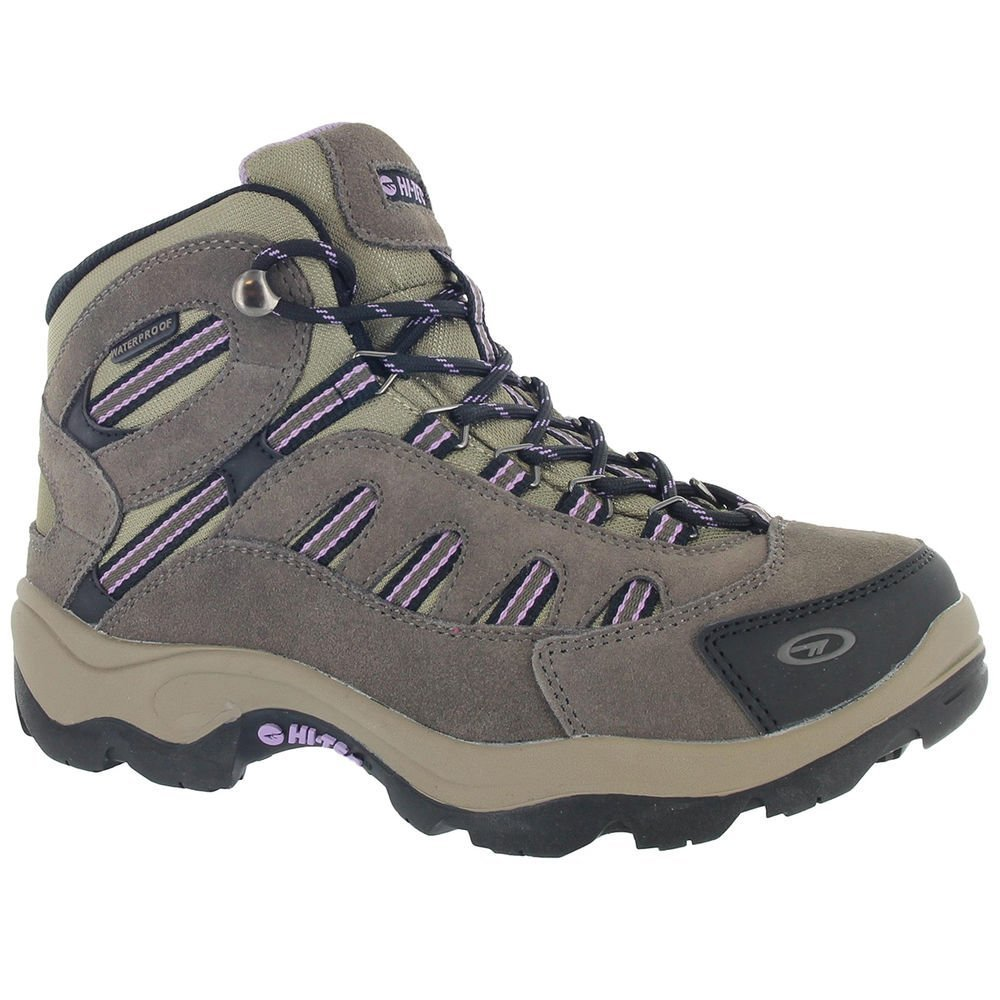 Hi-Tec Women Bandera Mid Waterproof Boots Dark Taupe/Viola Brown 8