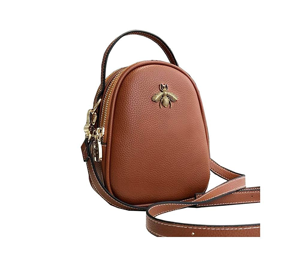 PACDE Mini Lady Bee One-Shoulder PU Shell Satchel Stylish Zipper Handbag Women Shoulder Bag