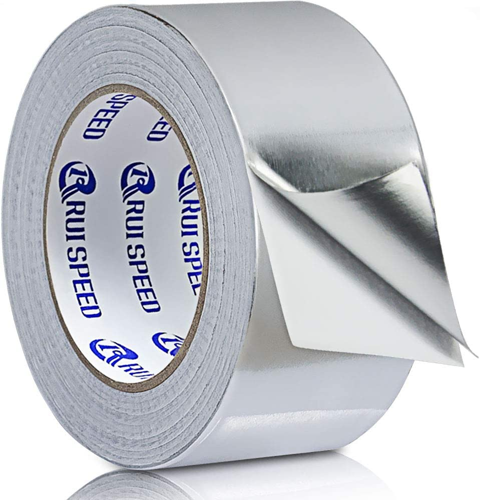 Sliver Aluminum Foil Tape for Duct Work, 2 in x 99 ft (4 mil) Reflectix Tape Perfect for HVAC, Patching Hot, Cold Air Ducts, Metal Repair