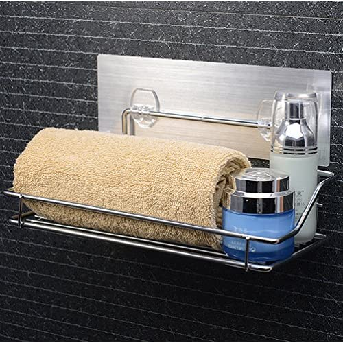 High Quality GDrems No Drilling Bathroom Shower Caddy For Shampoo, Conditioner, Soap    Stainless Steel