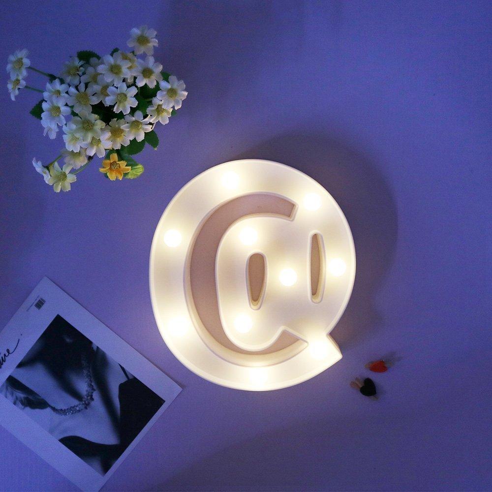 Mystery/&Melody LED BAR Alphabet Licht Brief Dekorative Lampe Licht LED Alphabet Wei/ß Feste Buchstaben f/ür Party Hochzeit Dekoration Licht BAR