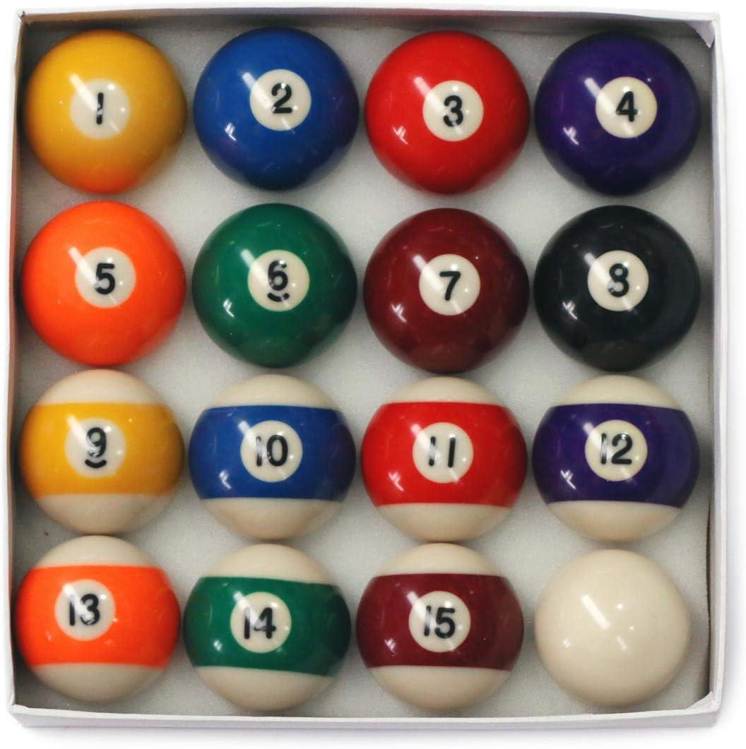 E-Service - Juego de bolas de billar de 5 cm con bola de 1 7/8: Amazon.es: Deportes y aire libre
