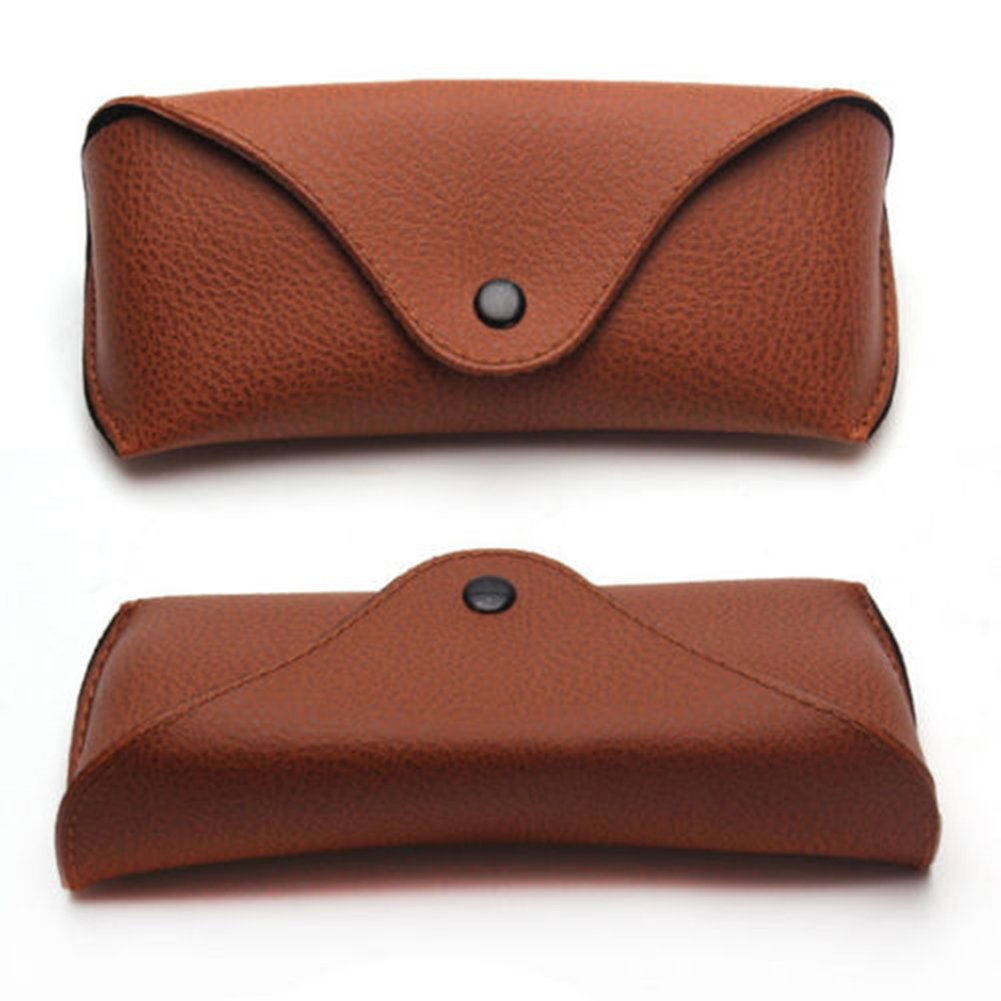 Academyus Unisex Faux Leather Eye Glasses Case Portable Sunglasses Holder Box (Brown) by Academyus (Image #2)
