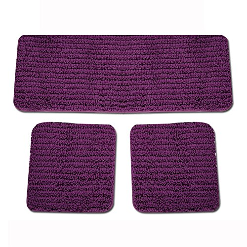 Ailj Car Seat Covers Multi-Colored Chenille Car Seat Cushion Non-Slip Winter Seat Pad Universal for 5 Seat Vehicles Office Home (Pack of 3) (Color : Purple)