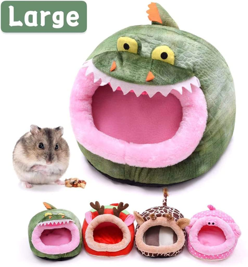 CROWNY Warm Small Pet Animals Bed —Guinea Pigs Bed,Hedgehog Winter Nest,Rat Chinchillas & Hamster Bed/Cube/House, Habitat, Lightweight, Durable, Portable, Cushion