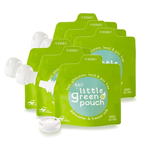 Amazon.com: Little Green Bolsa reutilizable Alimentos bolsa ...