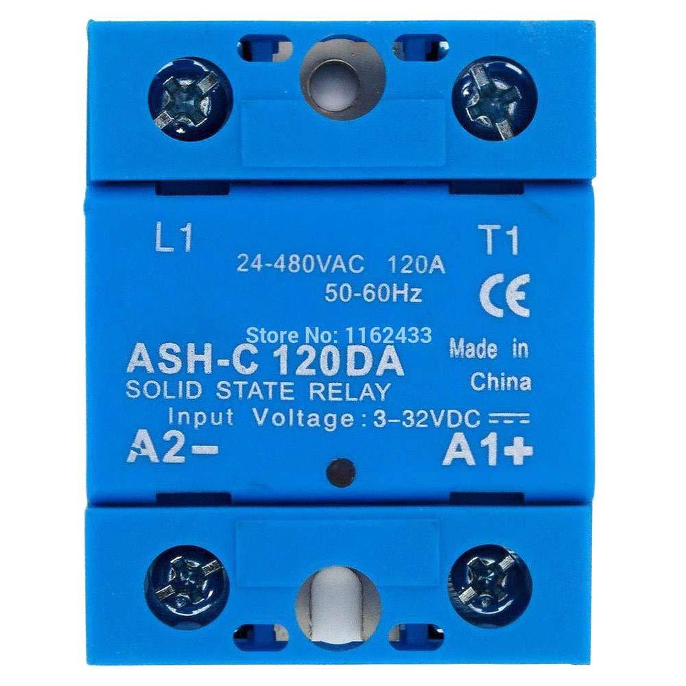 ASH-C-120DA Single Phase DC to AC 120A 24-480VAC Solid State Relay 120DA SSR