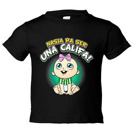 Camiseta niño nacida para ser una Califa Córdoba fútbol - Blanco, 3-4 años: Amazon.es: Bebé