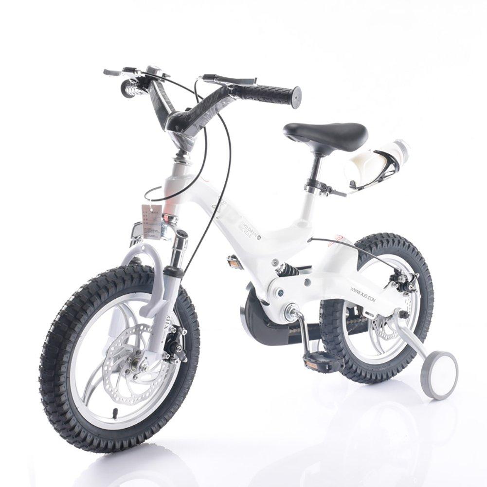 キッズバイク男の子と女の子マウンテンベビーキャリッジ14 16インチ3-4-6歳の子供の自転車白黄色の青いレッドゴールド B07DXK8BNS 16 inch|白 白 16 inch