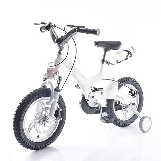 Bicicletas para niños Niños y Niñas Carrito de bebé para la Montaña 14 16 Pulgadas 3-4-6-8 Años Blanco Amarillo Azul Rojo Dorado: Amazon.es: Deportes y aire ...