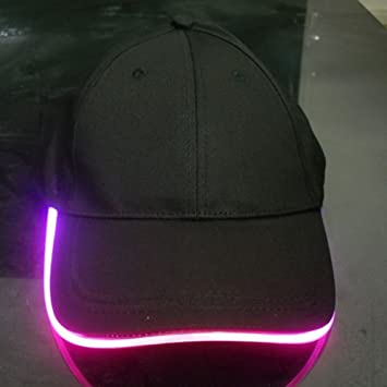 baseball hat led lights wire light up glow cap party club flashing with in brim uk wholesale