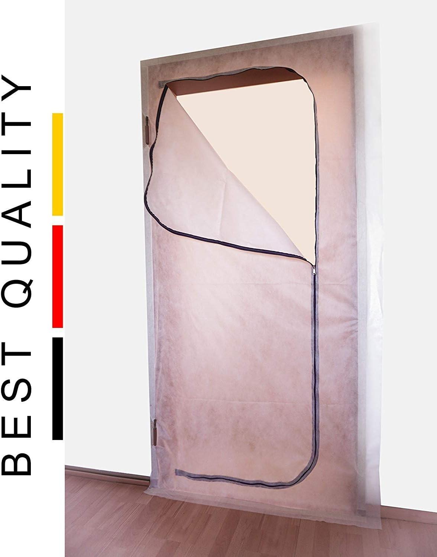 Fedo-Qualit/ät Hochwertige Staubschutzt/ür Made in Germany Vlies, 220x110 Baut/ür,Durchgang!