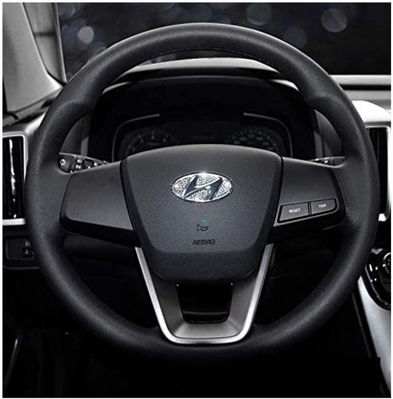 Car Steering Wheel Decorative Diamond Stickers For Hyundai Accessories Sonata Elantra IX35 IX25 Tucson Verna MISTRA Accent Steering Wheel Sign Logo Rhinestone Decals Cover