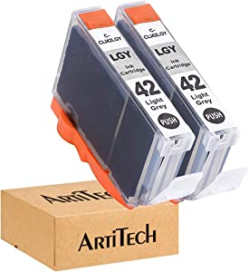 ArtiTech CLI-42 LGY Pixma Pro-100 Compatible Ink Cartridges Replacement for Canon CLI42 CLI-42 Light Gray Ink Cartridge Work for Pixma Pro-100S Printers,2 Pack CLI-42 LGY