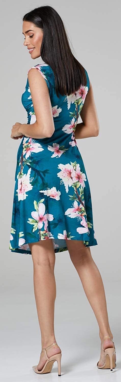500p Womens Maternity Nursing 2in1 Skater Dress Sleeveless Pockets Happy Mama
