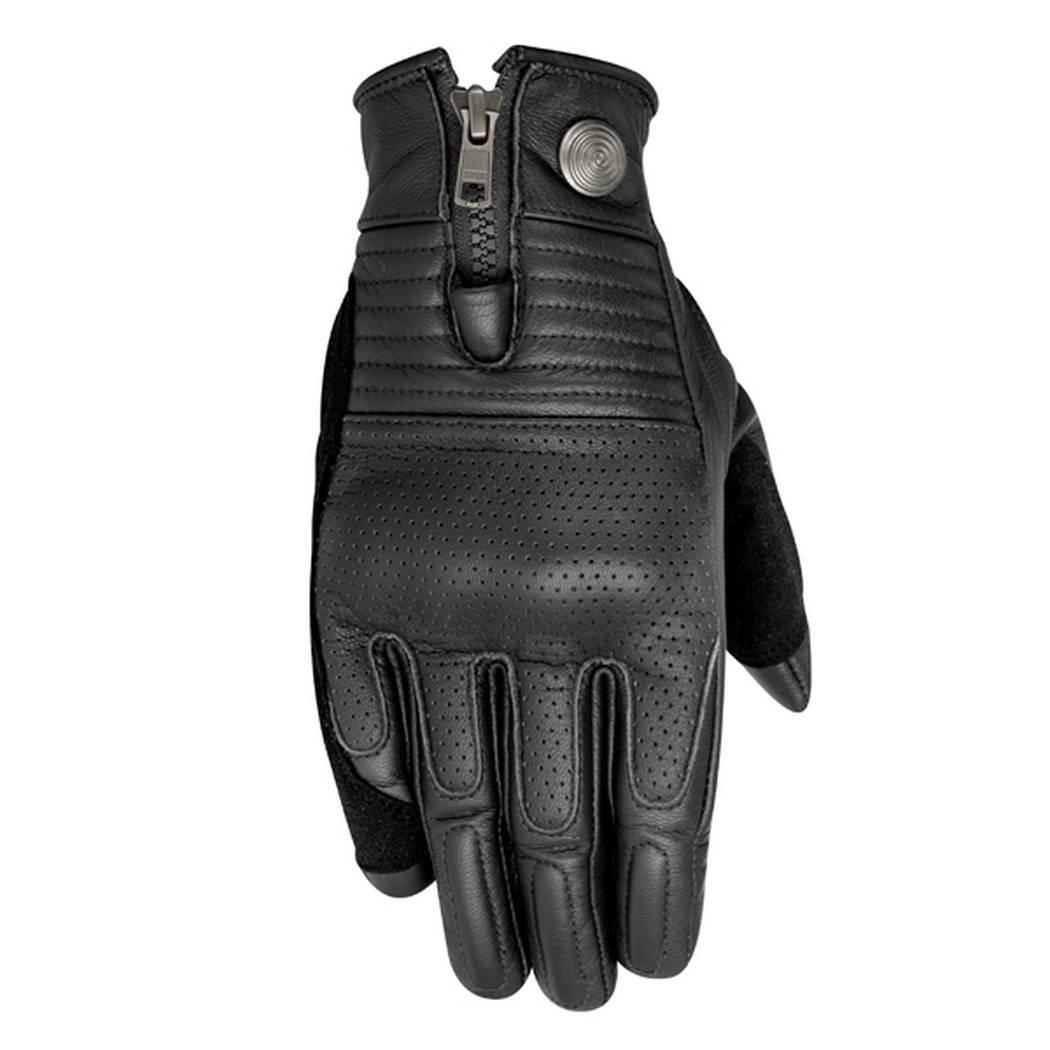 Black Alpinestars Rayburn Leather Motorcycle Glove Small