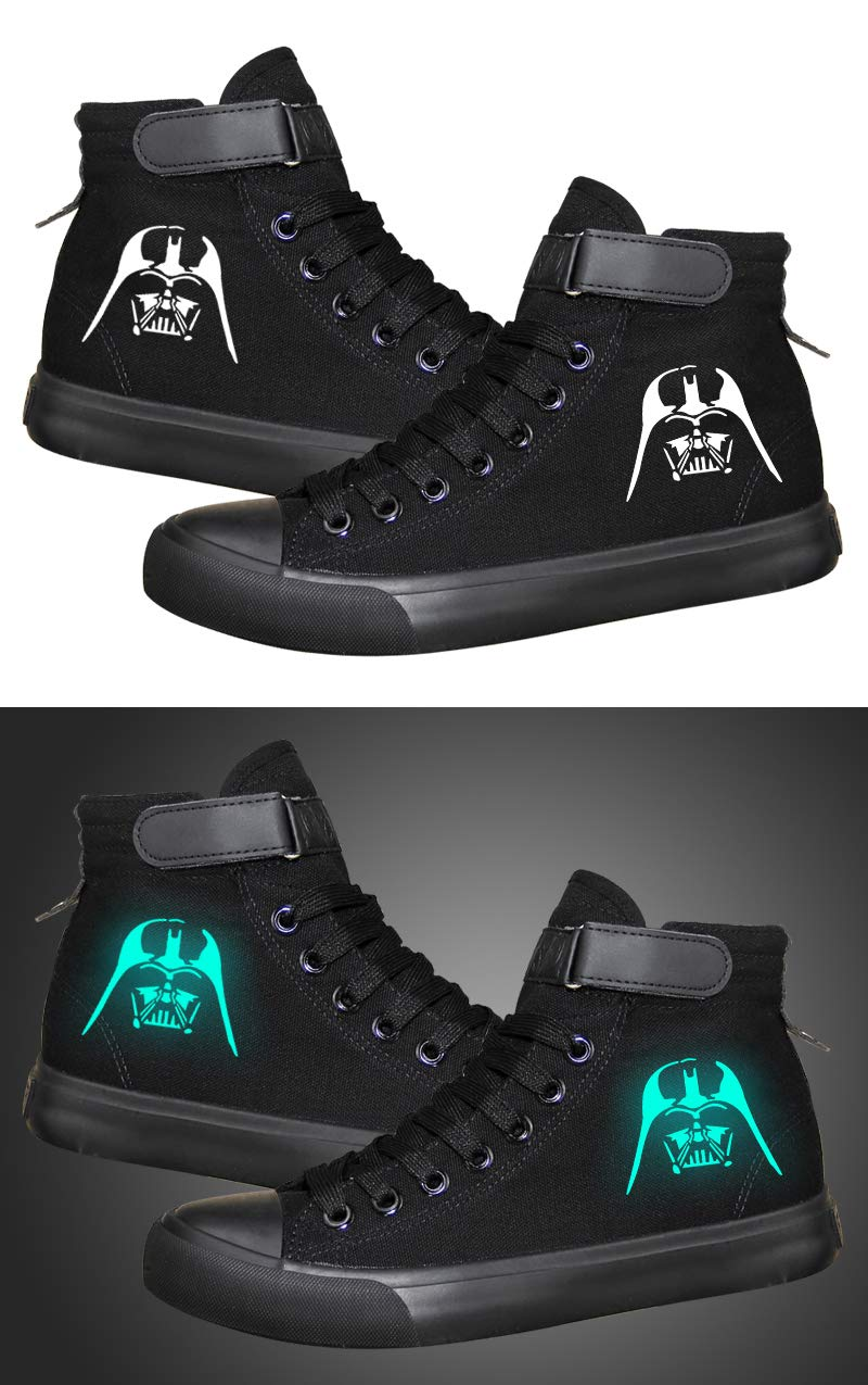 Star Wars Darth Vader White Soldier Sith Empire Galactic Empire Cosplay Shoes Canvas Shoes Luminous Sneakers